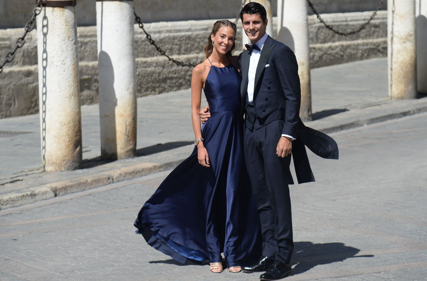 Alvaro Morata z żoną Alice