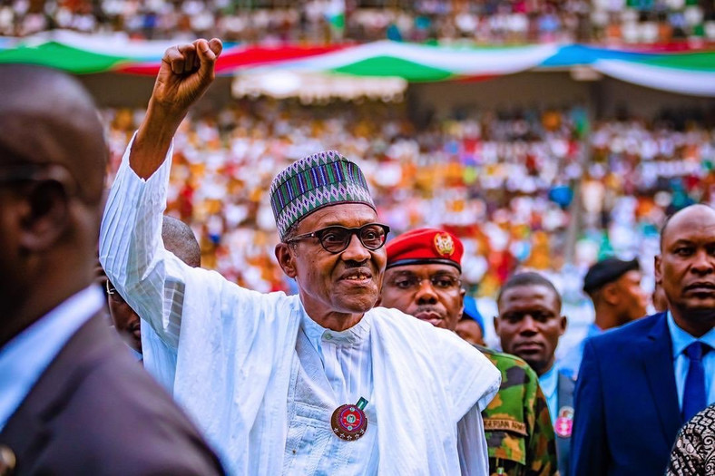 President Muhammadu Buhari, 76, hopes to win a second term when Nigerians go to the polls on February 16 [Tolani Alli]