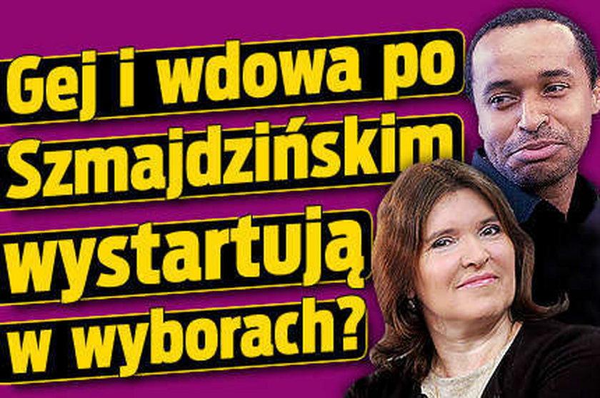 Gej i wdowa po Szmajdzińskim wystartują w wyborach?