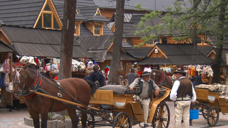 Najazd turystów na Zakopane