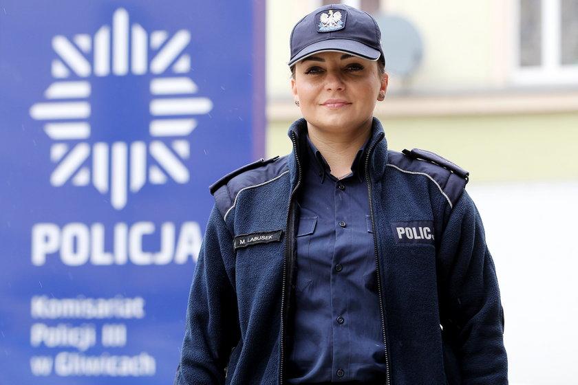 Michalina Labusek, dzielnicowa z 3 komisariatu policji w Gliwicach