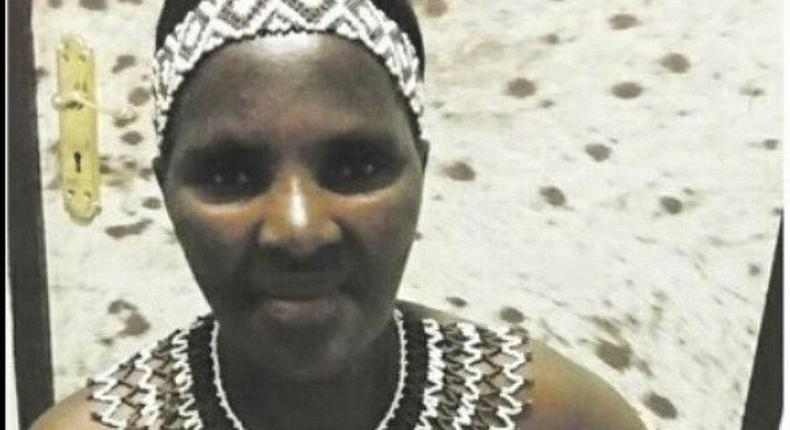 Ngipheni Ngcobo, 57-yr-old zulu virgin was one of the thousands of bare-breasted Zulu maidens for the reed dance