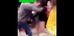 51-latek został nagrany, jak uderza pięścią 11-latkę