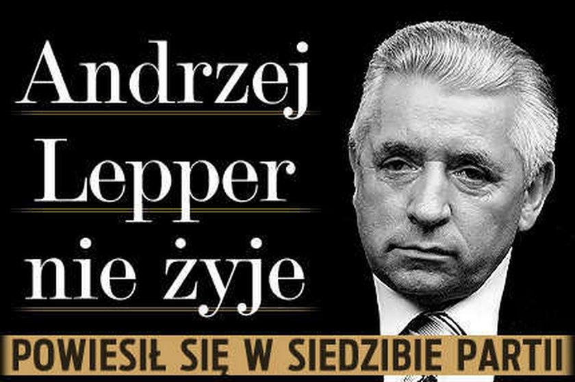 Andrzej Lepper nie żyje. Popełnił samobójstwo