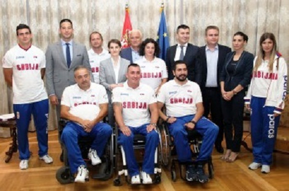 Paraolimpijci na prijemu u Vladi Republike Srbije