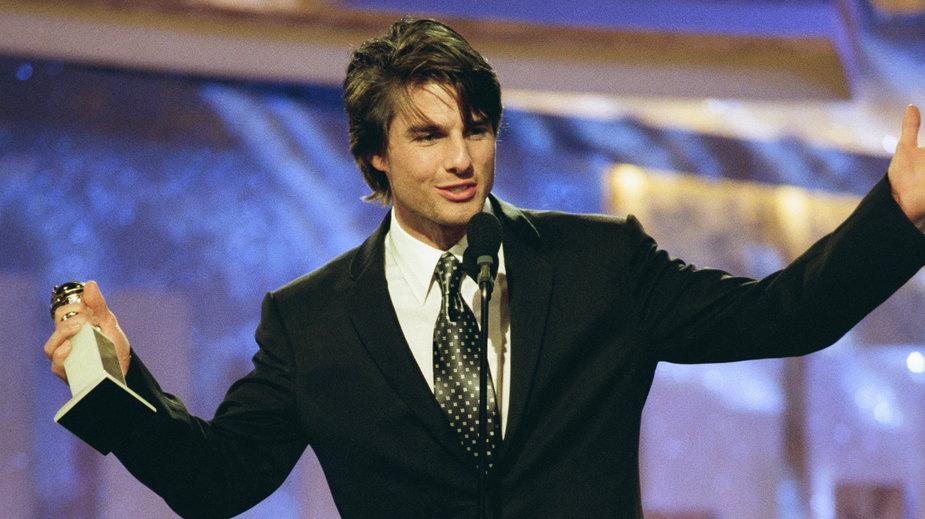 """Tom Cruise ze Złotym Globem za rolę w filmie """"Jerry Maguire"""""""