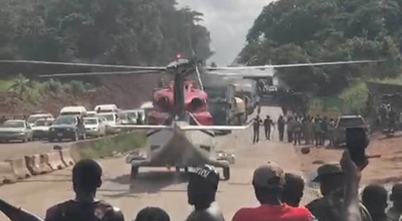 The helicopter that landed on Benin-Ore expressway conducted an emergency medical airlift not showoff - Arctic Logistics