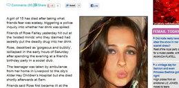 15-latka zmarła po ecstasy. Ktoś dodał jej do drinka!