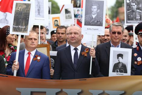 Goran Vesić, Nebojša Popović, ruski ambasador Aleksandar Čepurin