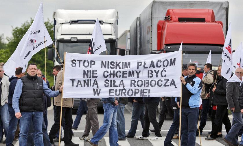 Protest związkowców Fiata