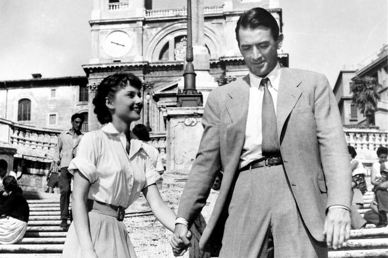 """""""Rzymskie wakacje"""" Audrey Hepburn, Gregory Peck"""