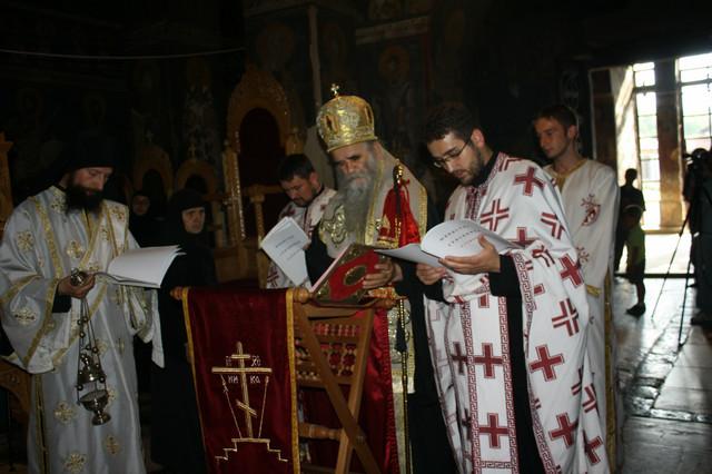 Amfilohije služio moleba za Kosovo u Gračanici