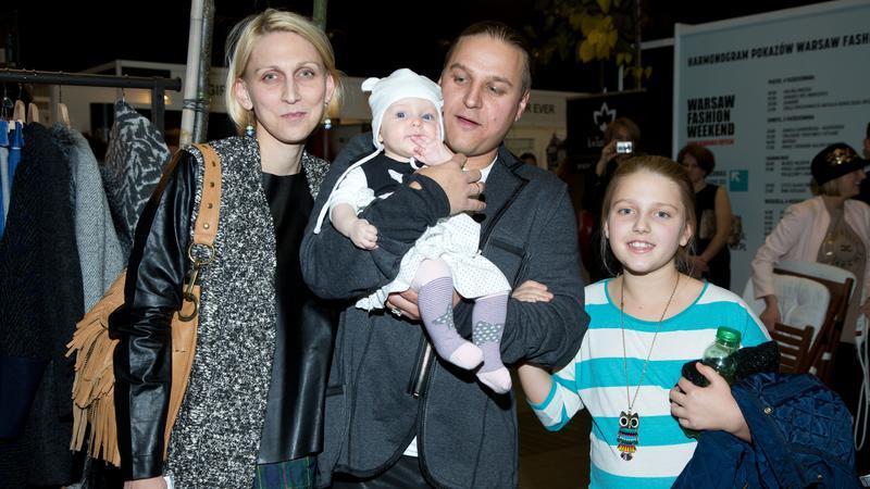 Paweł Golec z rodziną