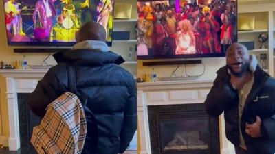 """Davido's reaction after seeing himself in """"Coming to America 2"""" is priceless (VIDEO)"""
