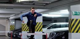 Patryk Dobek biega przez płotki w garażu!