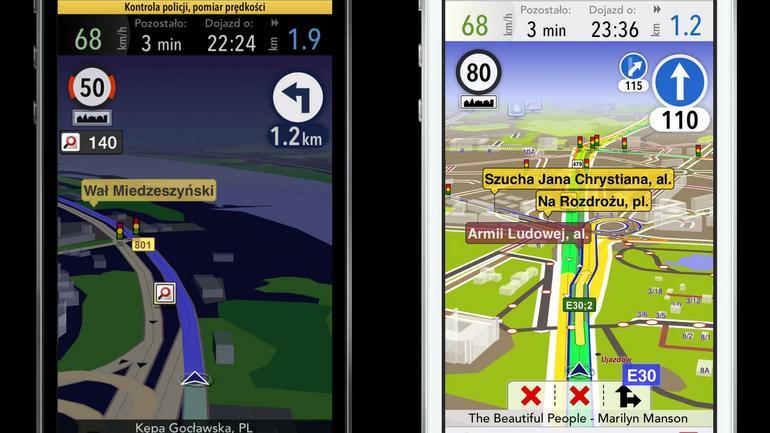 AutoMapa 5 dla sprzętu z iOS