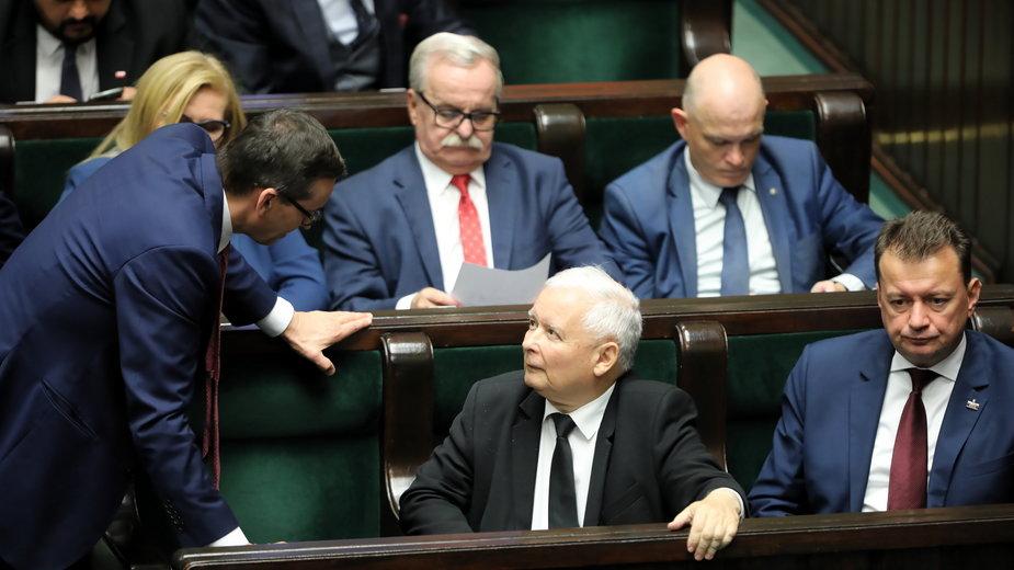 Prezes PiS podczas rozmowy w Sejmie z premierem, 17.09.2020 r.