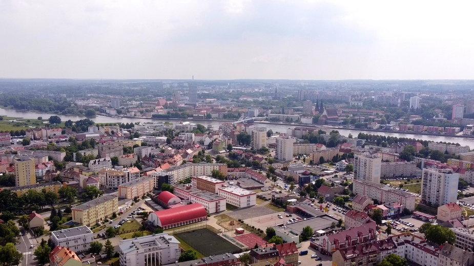 Panorama Słubic i Frankfurtu nad Odrą
