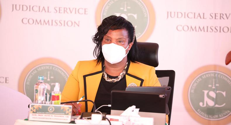 Judicial Service Commission (JSC) vice Chairperson Olive Mugenda