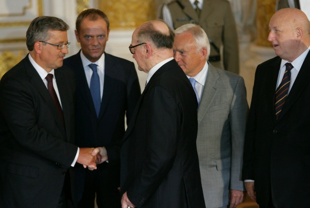 Prezydent Bronisław Komorowski, Donald Tusk, Wojciech Jaruzelski, Leszek Miller i Józef Oleksy