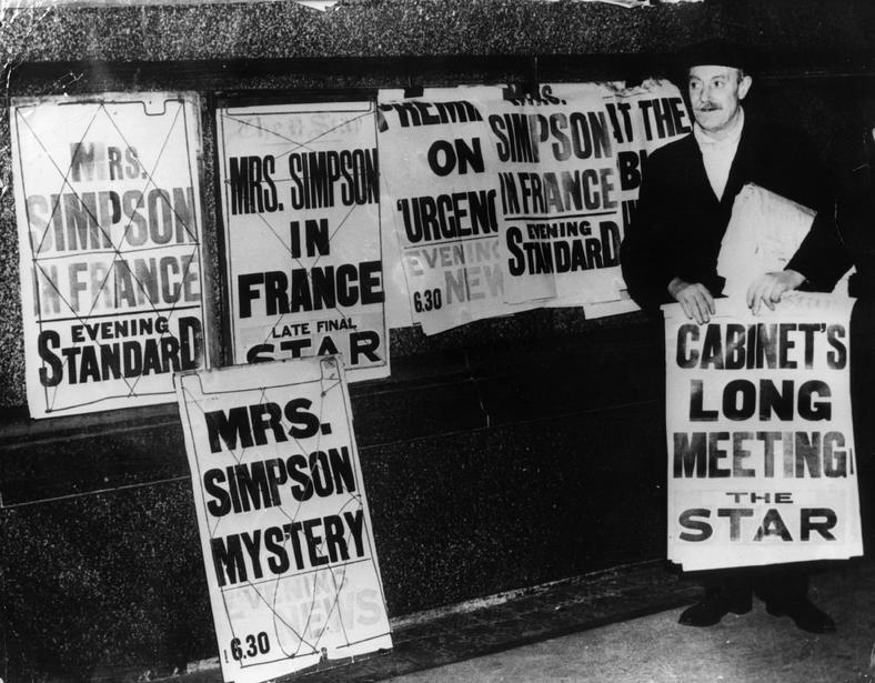 Brytyjska prasa o Wallis Simpson