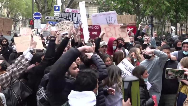 Protesty francuskich maturzystów