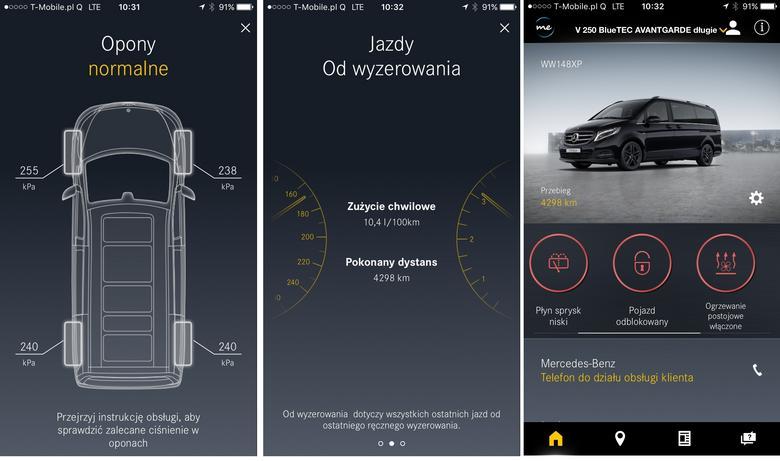 MercedesMe raport o samochodzie