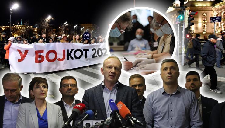 opozicija bojkot kombo RAS Snezana Krstic, Djordje KOjadinovic