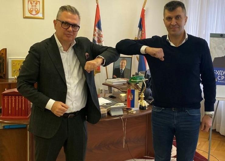 Nikos Zois & Minister Djordjevic blic - manja