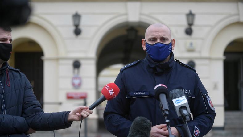 Sylwester Marczak, rzecznik stołecznej policji