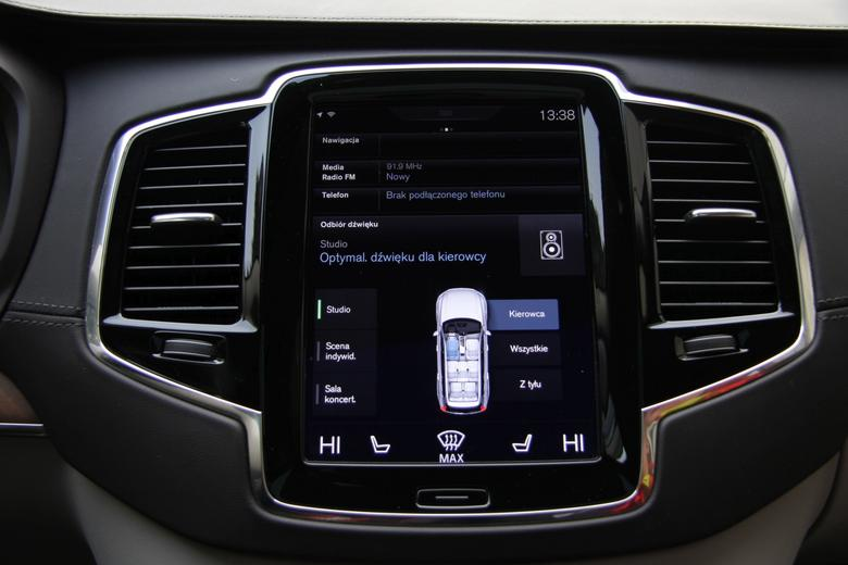 Volvo XC90 - system optymalizacji dźwięku, czyli korekcja DSP