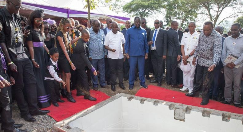 Celebrities and High profile guests who attended Bruce Odhiambo's funeral