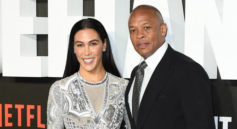 Dr Dre and wife, Nicole Young [NetworkWiki]