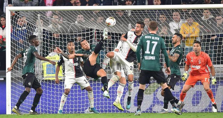 Detalj sa meča Juventusa i Bolonje