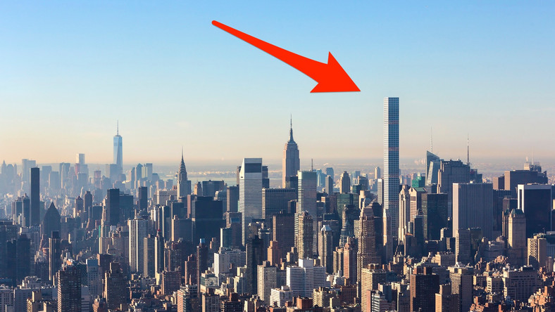 The penthouse is on the 95th floor of 432 Park Ave., the controversial skyscraper that holds the title of tallest residential building in New York City, at 1,396 feet.