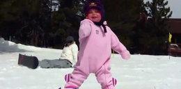 15-miesięczna mistrzyni snowboardu. Wideo