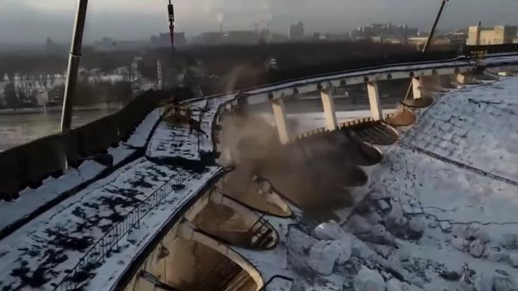 Sankt Peterbur, srušila se hala