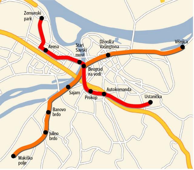 Mapa koja je predstavljena 2017.