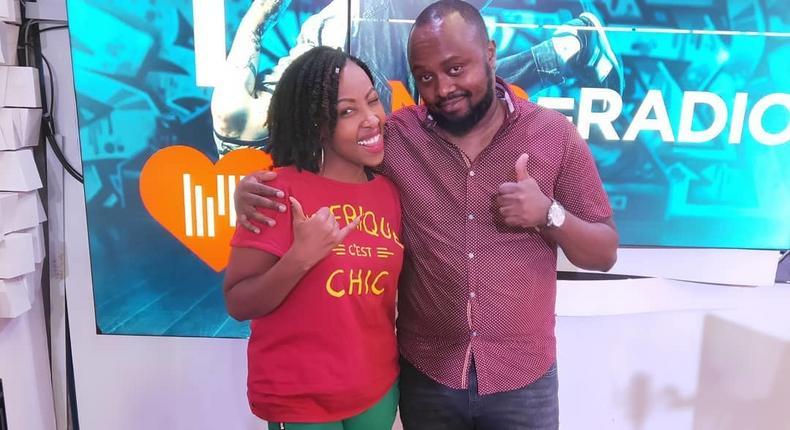 Media Personality Jay Ule Msee with Mwalimu Rachel