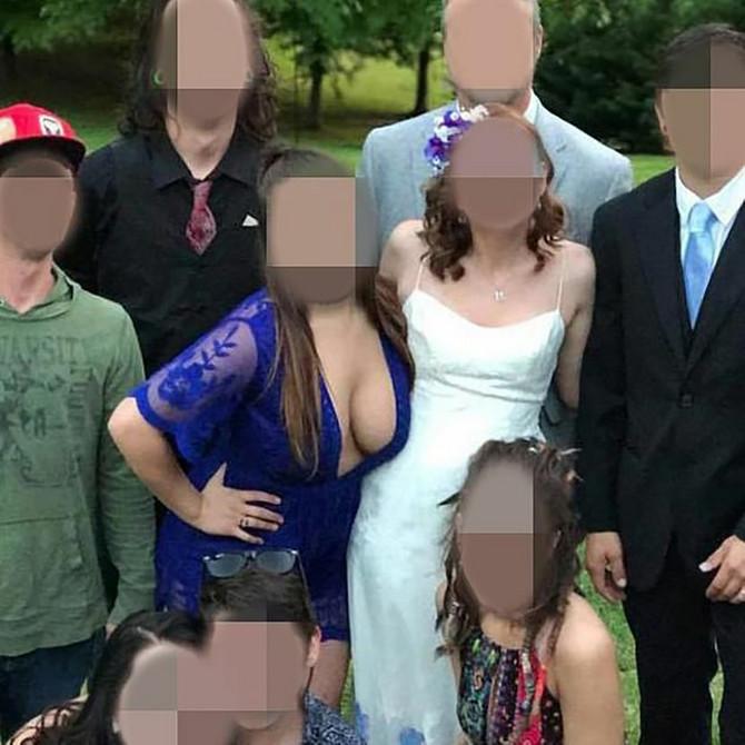 Kažu joj da je upropastila sliku sa venčanja