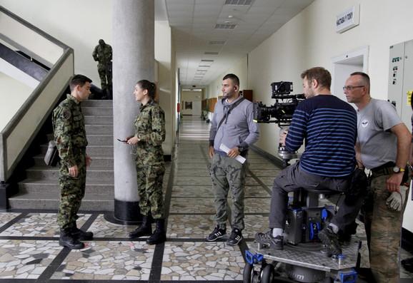 Snimanje serije Vojna akademija