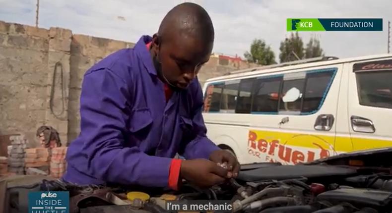 Mr. Kelvin Mbuthia at work.