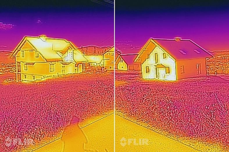 Zdjęcia zrobione kamerą termowizyjną w telefonie CAT S60