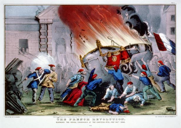 Obraz przedstawiający walki w Paryżu, 24 lutego 1848 r.