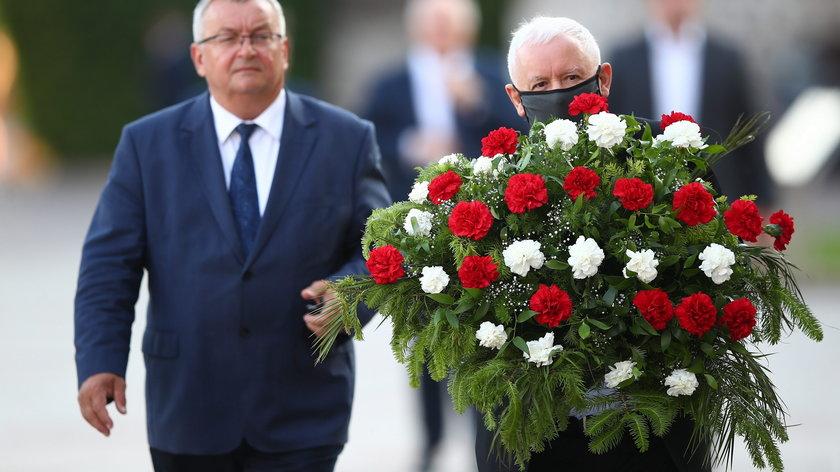 Andrzej Adamczyk i Jarosław Kaczyński