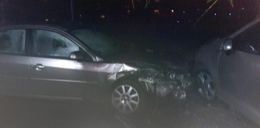Pijani policjanci staranowali trzy samochody