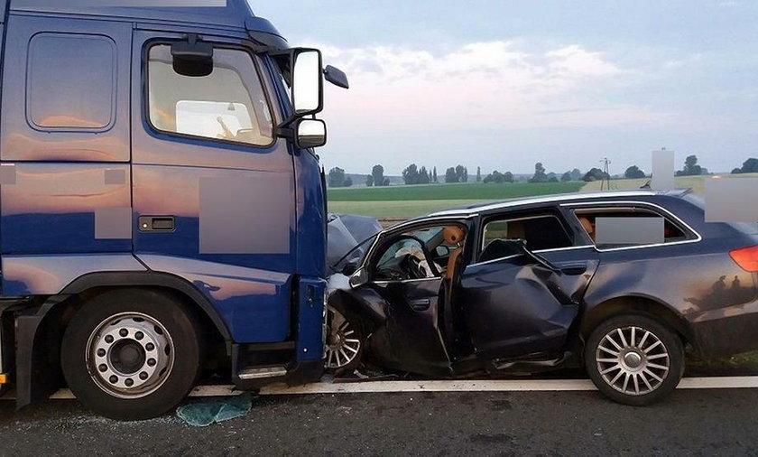Wypadek na odcinku drogi Zielona Góra - Świebodzin