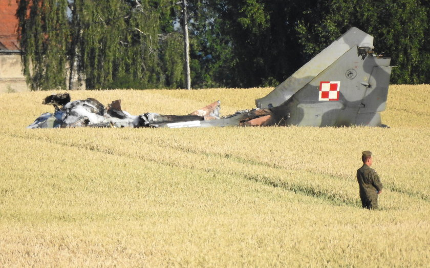 Katastrofa koło Pasłęka. Rozbił się wojskowy myśliwiec