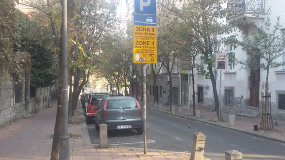 Džabe parking u zonama 1. i 2. januara