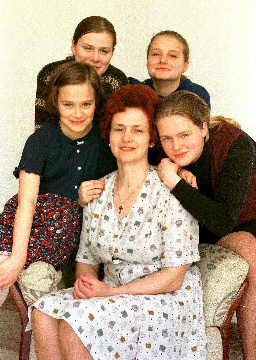 Danuta Wałęsa z córkami
